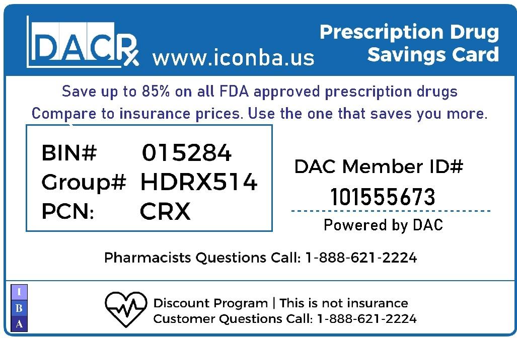 Free Prescription discount card.